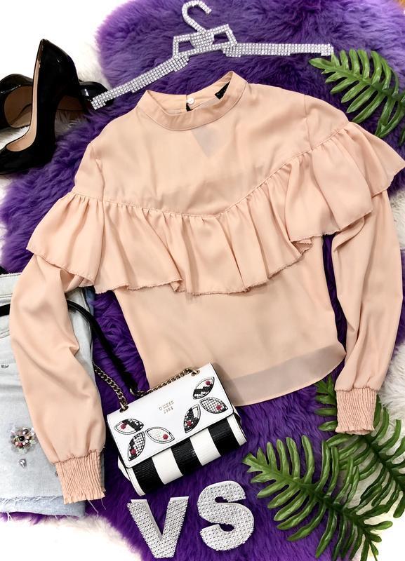 Новая бежевая блуза размер м