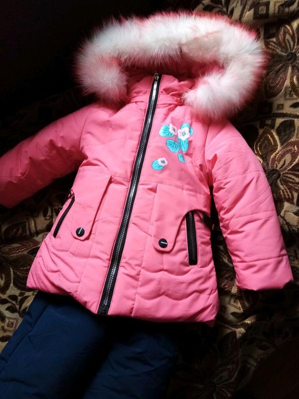 Зимний термо костюм для девочки