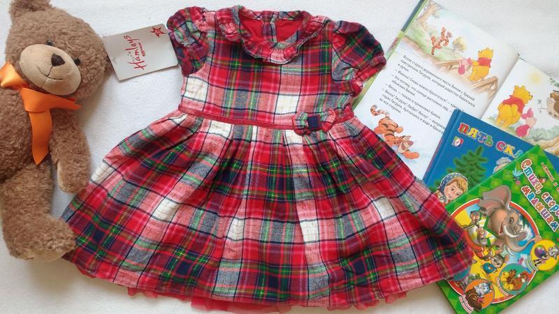 """Клетчатое платье """"george"""", 6-9 месяцев, 68-74 см"""