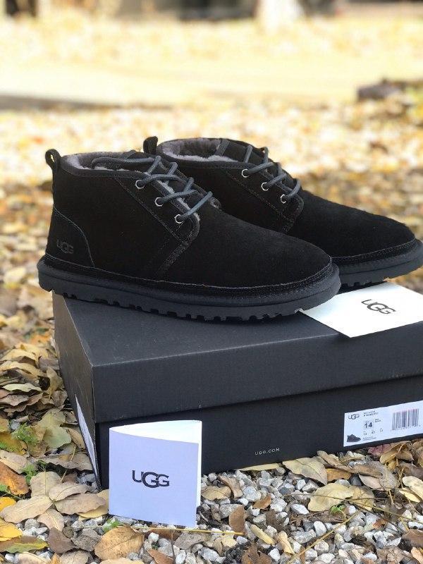 Ugg neumel 🤗 натуральные мужские зимние сапоги угги черные