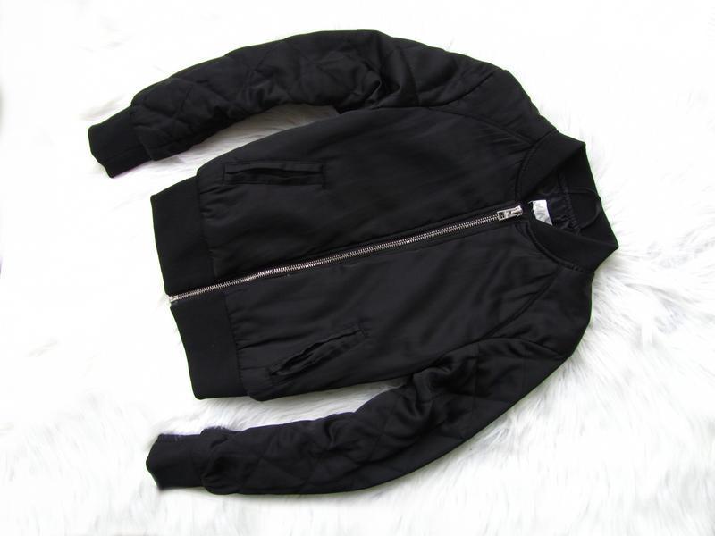 Стильная утепленная демисезонный куртка бомбер h&m