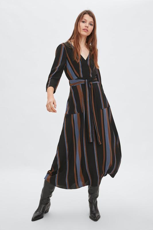 Платье миди в полоску от zara