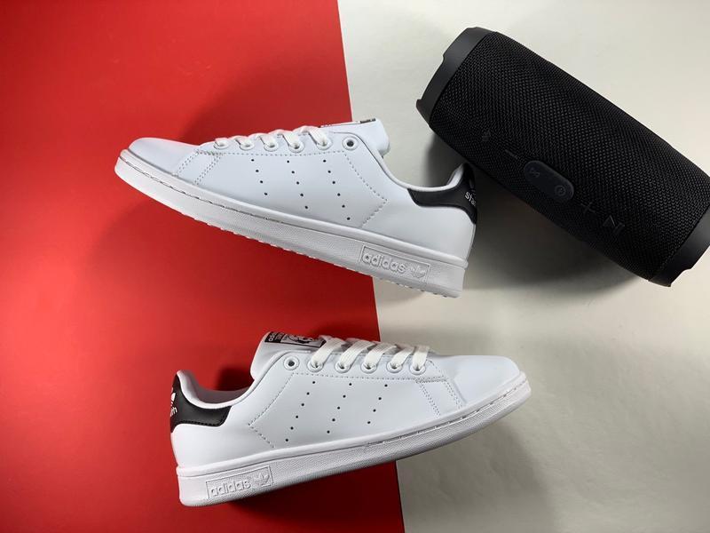 Adidas stan smith white black женские кроссовки весна лето осе...