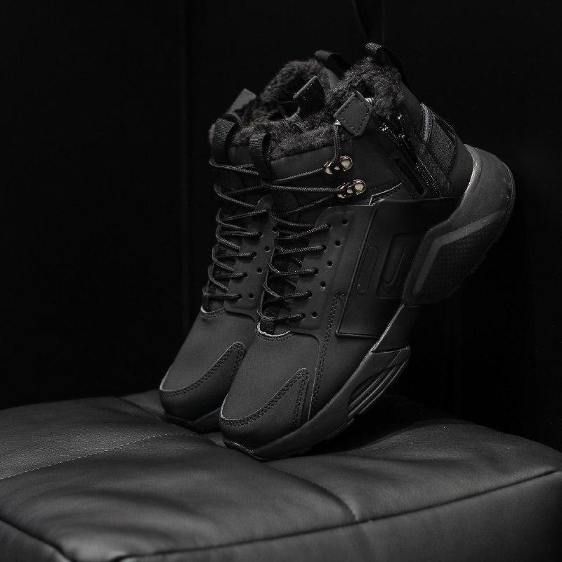 Шикарные мужские  зимние кроссовки на меху  nike huarache x ac...