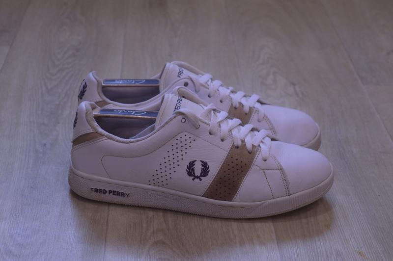 Fred perry мужские кроссовки белые кожа оригинал осень sale!