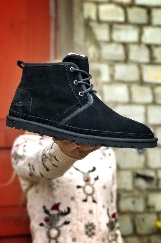 Шикарные мужские зимние угги ugg neumel boot black