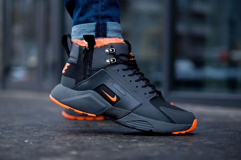 Nike huarache x acronym city mid leather мужские зимние кроссо...