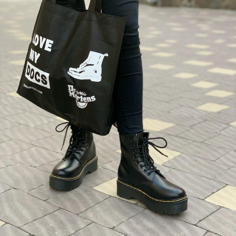 Шикарные женские демисезонные ботинки dr. martens jadon