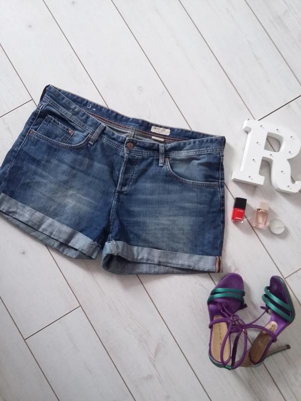Мега стильные джинсовые шорты на высокой посадке..# 166