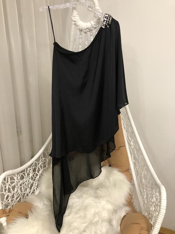 Удлиненная нарядна блуза от river island размер с-м