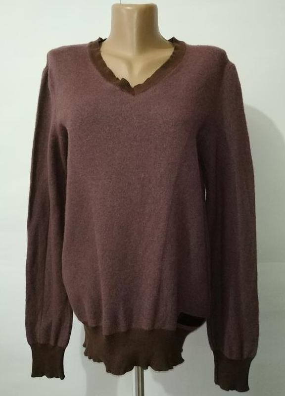 Шерстяной теплый свитер пуловер с v-образным вырезом diesel uk...