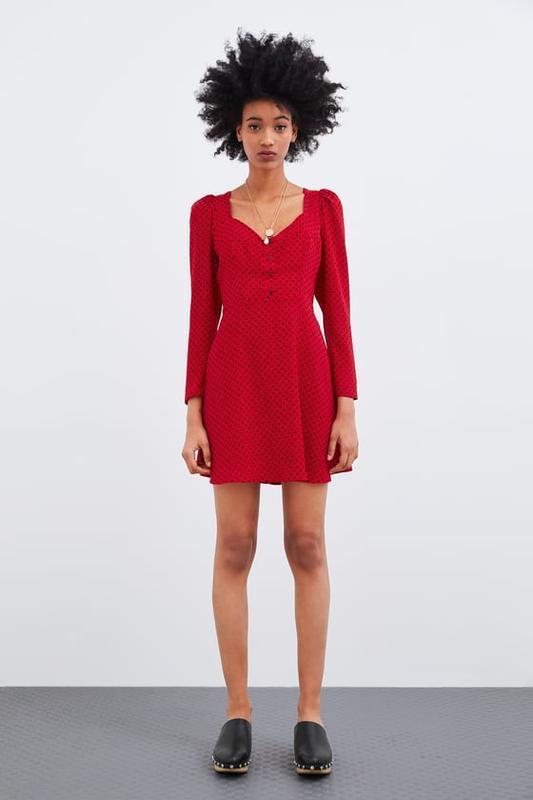 Платье в горошек от zara