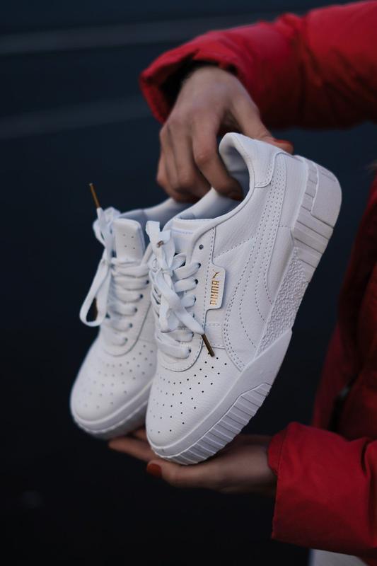 Puma cali white женские кроссовки весна лето осень белые