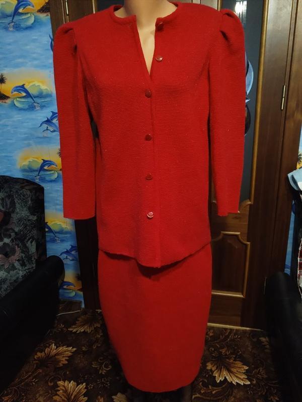 Костюм з люрексом теплий напівшерстяний спідниця піджак костюм...