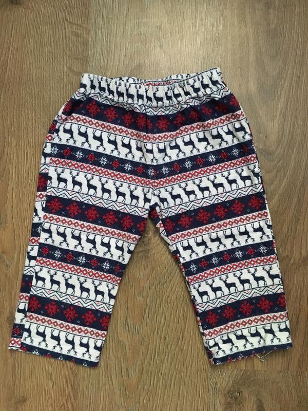 Байковые штанишки by very в оленях на 12-18 месяцев