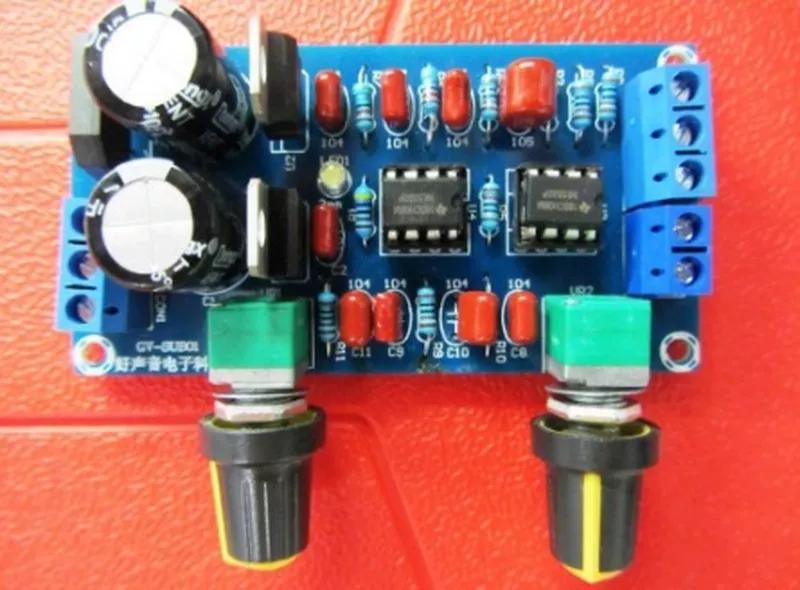 Темброблок NE5532 активный фильтр БАСС сумматор одно двухполярный