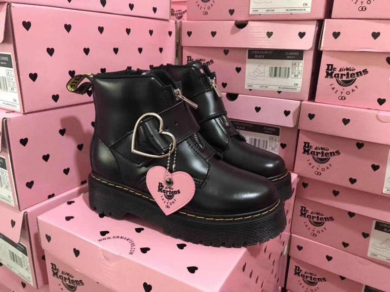 Dr. martens jadon black женские зимние ботинки мартинс чёрные ...