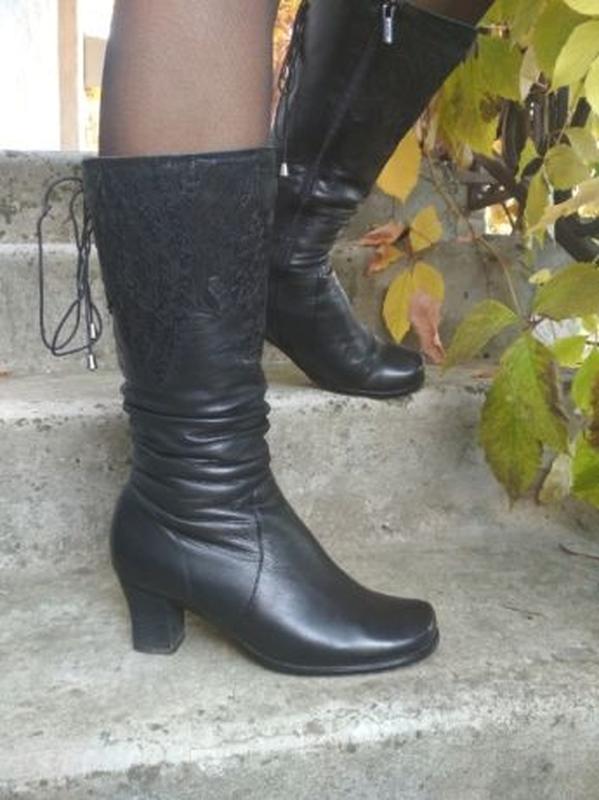 Зимние сапоги из натуральной кожи. Зимові чоботи натуральна шкіра