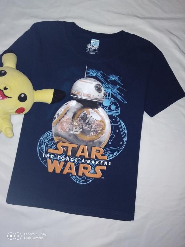 Классная футболка мальчику 6-8 лет- 122-130-star wars-