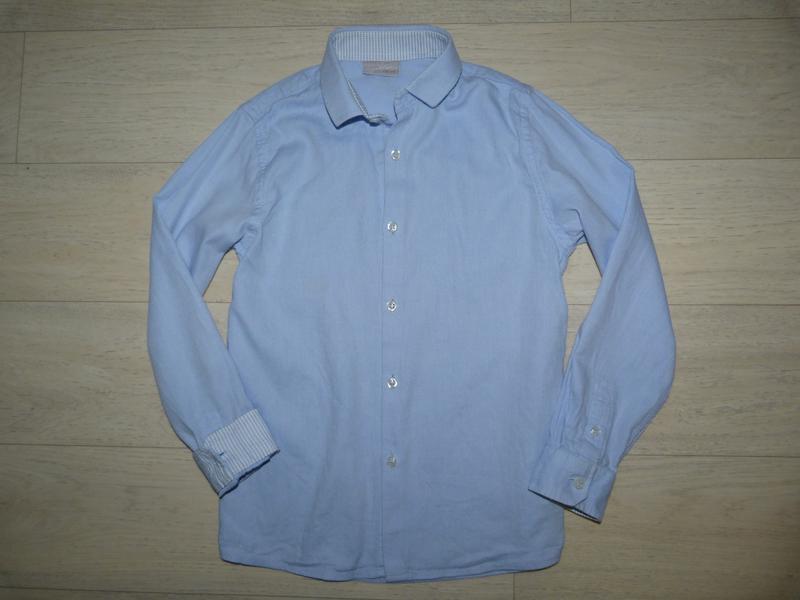 Голубая рубашка next 8 лет