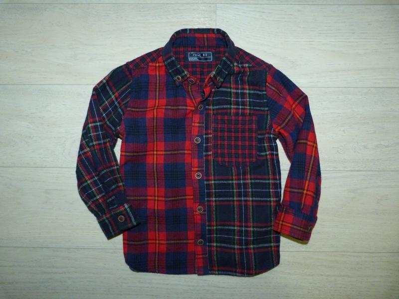 Рубашка тонкая байка next 1,6-2 года