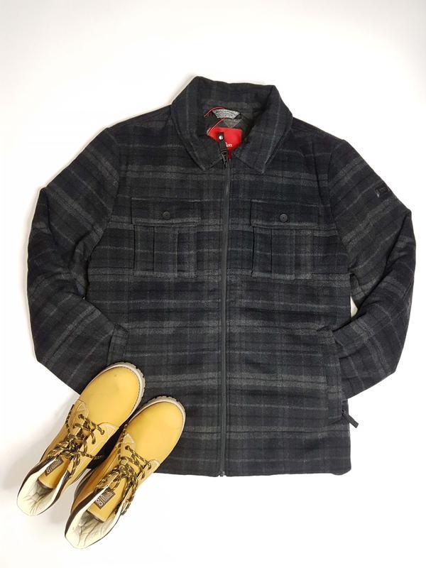 Классическая шерстяная зимняя мужская куртка большого размера