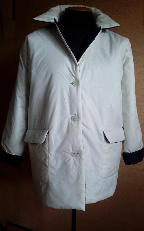 Удлиненная лёгкая куртка на синтепоне на 54/58 размер