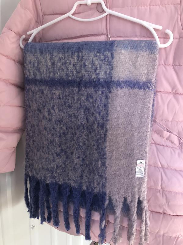 Большой мягкий объёмный шарф актуальной расцветки! новый
