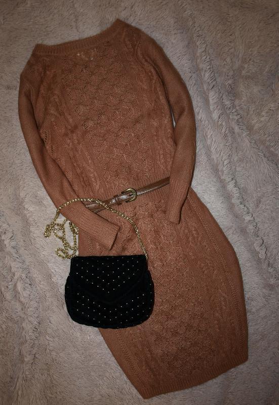Теплое платье туника
