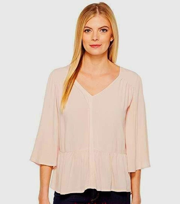 Нежная пудровая свободная блуза b collection by bobeau