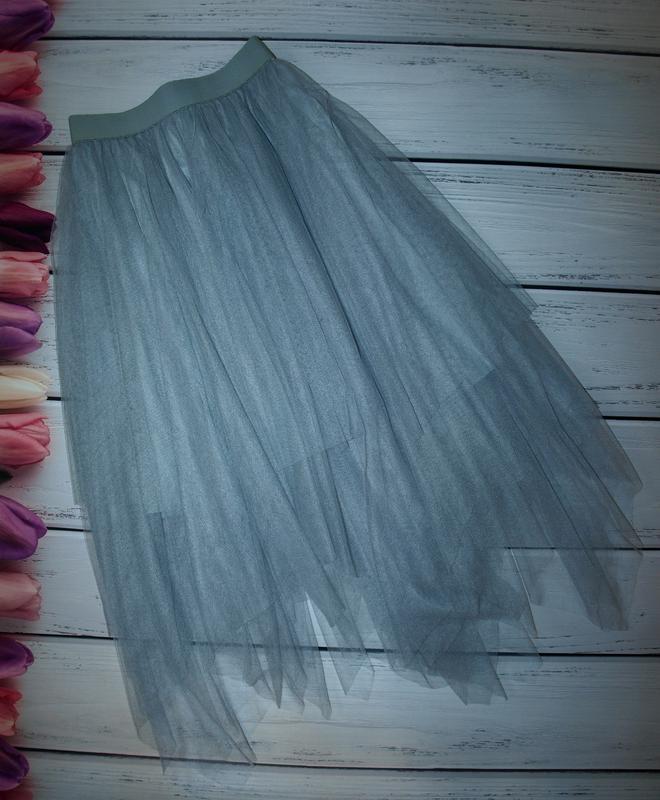 Шикарная фатиновая юбка new look