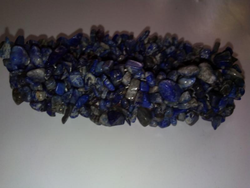 Широкий браслет из  камней лазурита