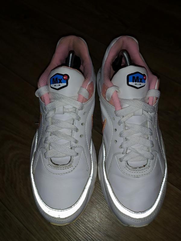 Кожаные кроссовки nike mx air