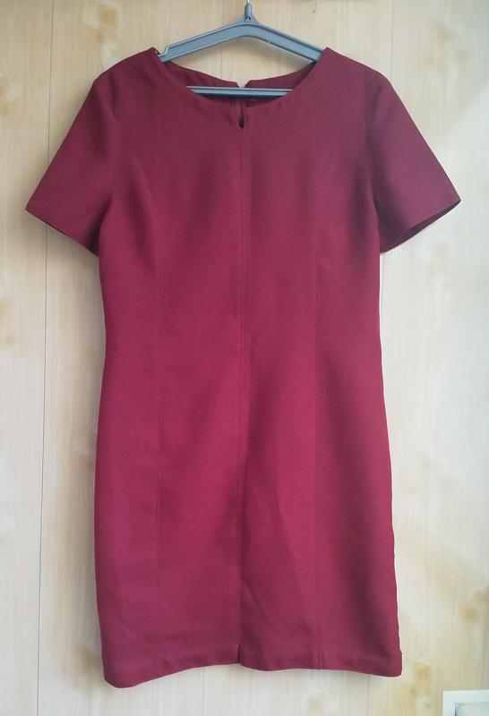 Ппямое платье, цвет марсала.