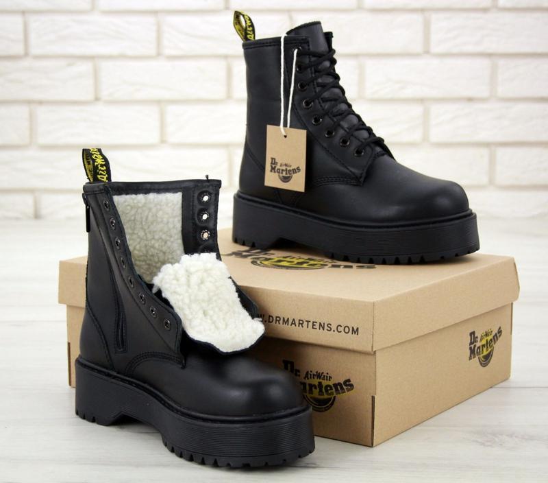 Ботинки черные dr martens jadon mono