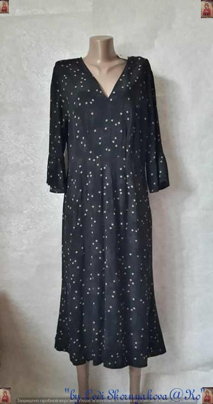 Фирменное h&m шикарное платье-миди со 100 % вискозы в мелкие ц...
