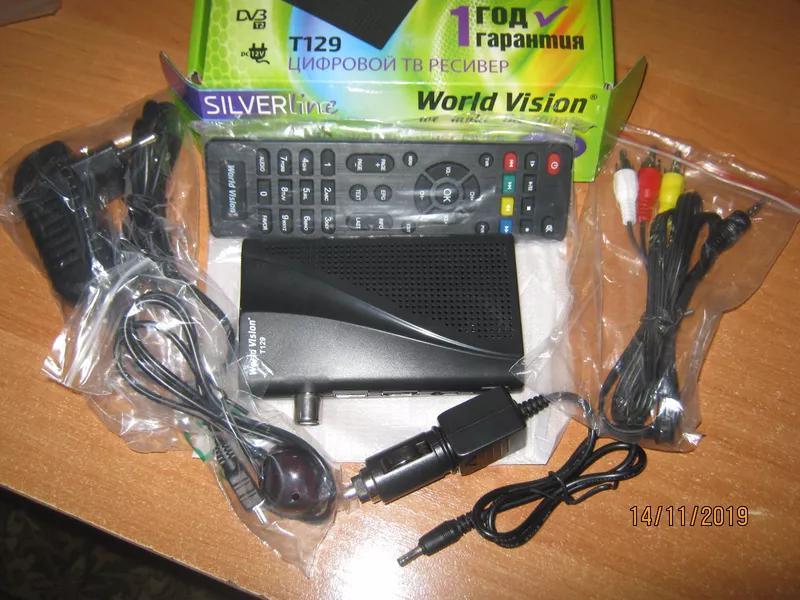 Авторесивер World Vision T129 -с блоком питания 12 Вольт и выносн - Фото 2