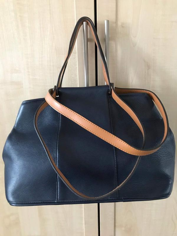 Вместительная кожаная сумка kate simmons.