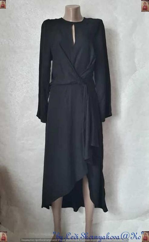 Фирменное h&m шикарное платье миди со 100% вискозы в ассиметри...