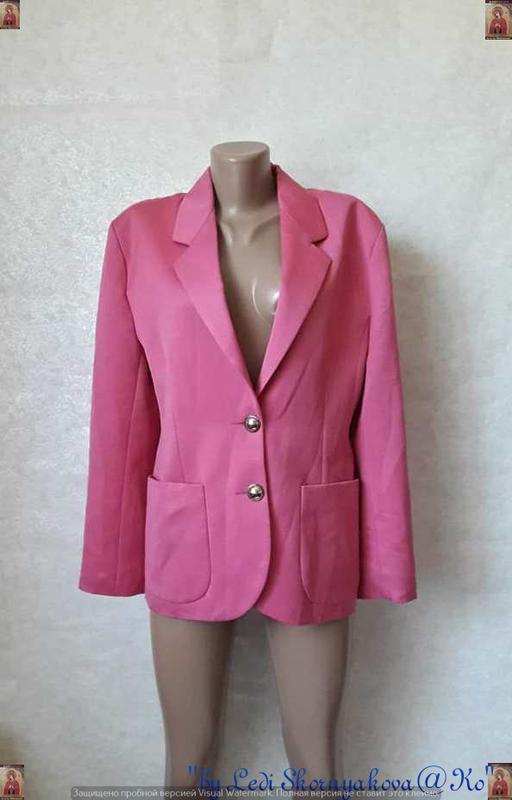 Фирменный hennes удлинённый пиджак/жакет розового цвета с пуго...