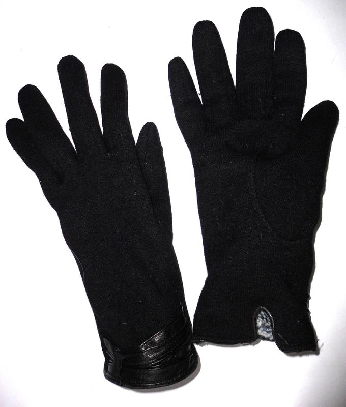 Зимние перчатки кашемир на меху р.s