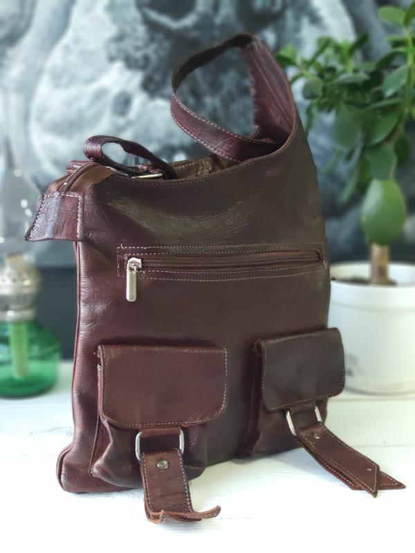 Классная сумка из натуральной кожи. - Фото 5
