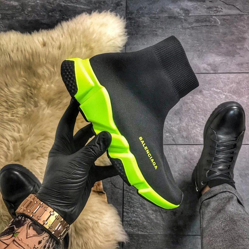 Шикарные кроссовки speed green black
