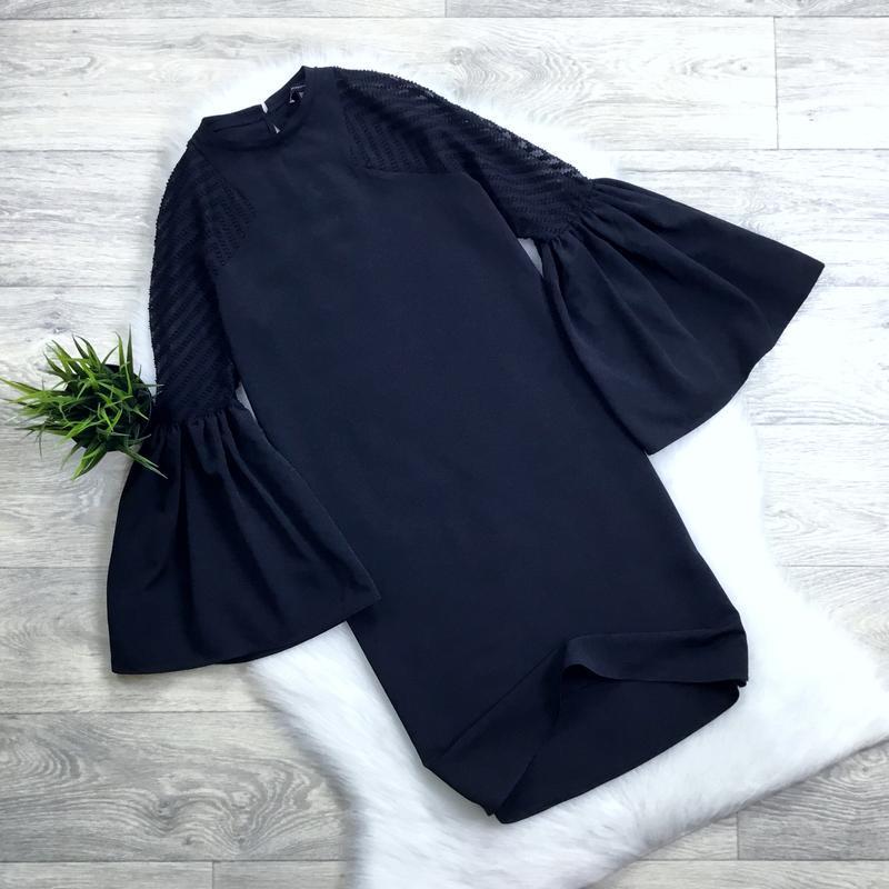 Платье с пышными рукава
