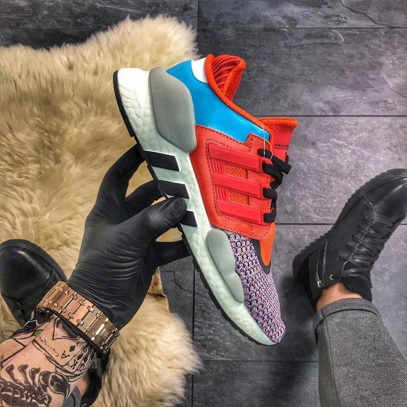 Кроссовки adidas eqt 91/18 red violet blue.