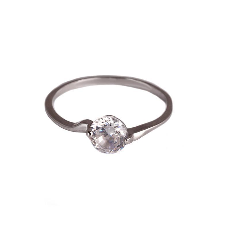 Серебряное кольцо «нежный акцент»