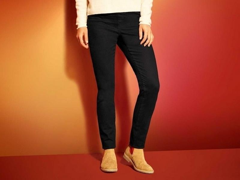 Cтильные джинсы брюки на микро флисе р.38