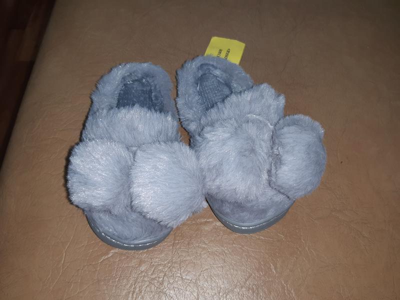 Теплые детские тапочки 24-29 р маломерят