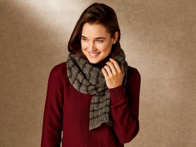 Теплый вязаный шарф esmara