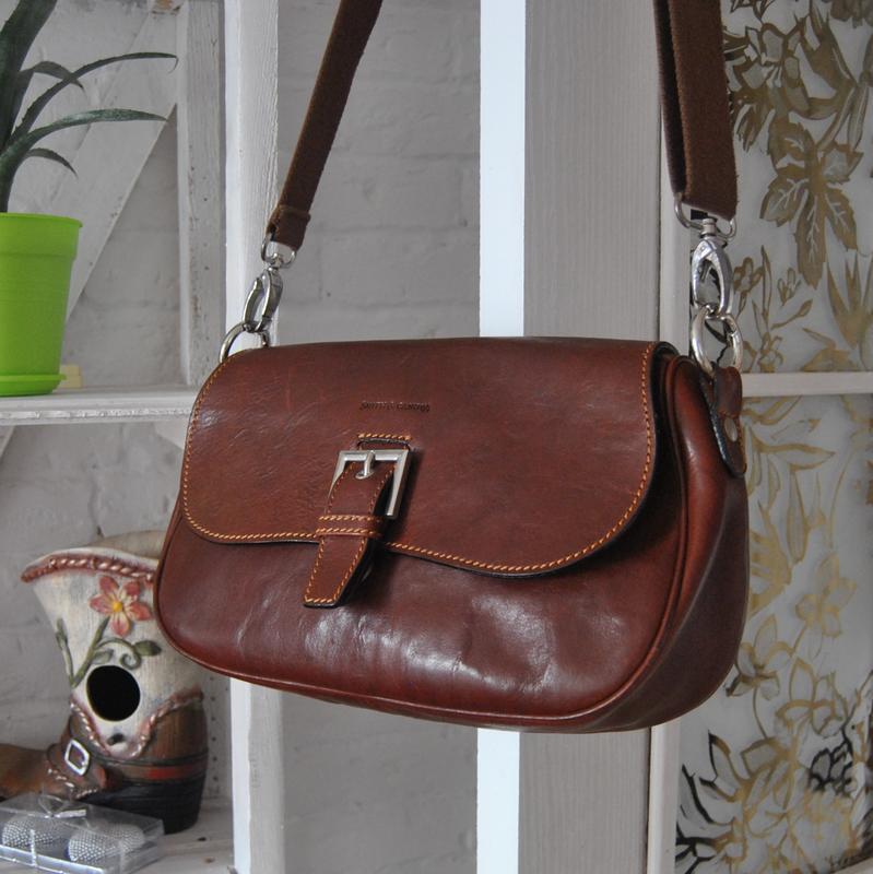 Кожаная сумка кроссбоди smith & canova / шкіряна сумка